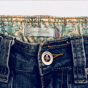 Denim Levi's maxi skirt